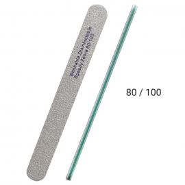 Lima Zebra 80/ 100 para limado de uñas de gel, acrílico, acrygel, esmaltado semipermanente