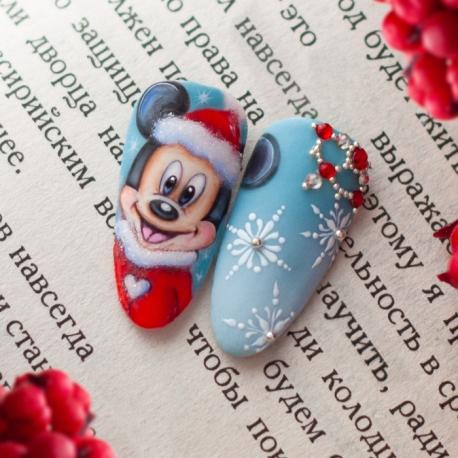Vídeo clase «Mickey Mouse y copos de nieve» con Yuliya Novikava