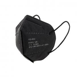 Mascarilla FFP2 protectora con 5 capas de protección. Color: negro