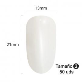 Tips para practicar decoración de uñas (nail-art) en forma ovalada. 50 unidades. Tamaño: 3