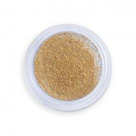 Micro Caviar (micro bolitas metálicas) para diseño de uñas. Color dorado