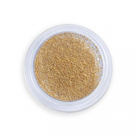 Micro-Caviar (micro-bolitas metálicas) para diseño de uñas. Color dorado