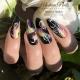 Esmalte semipermanente, Gel polish, Gellack Modena Nails. Color: negro. 7,3ml. Número: mn002