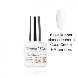 Base Rubber blanco lechoso Coco Cream + Vitaminas Modena Nails. 7,3ml