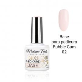 Base para pedicura esmalte semipermanente Rosa pastel Bubble Gum 02. Modena Nails. 7,3ml