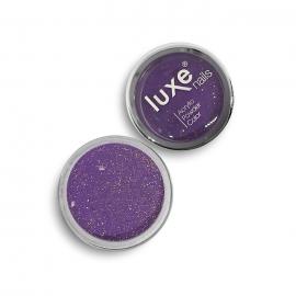 Polvo acrílico Luxe Nails. Color: morado con purpurina. 6gr.
