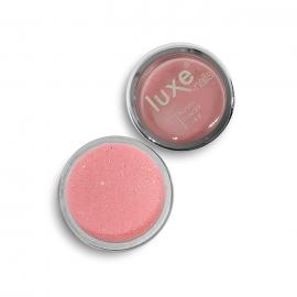 Polvo acrílico Luxe Nails. Color: coral claro con purpurina. 6gr.