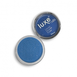Polvo acrílico Luxe Nails. Color: azul eléctrico con purpurina. 6gr.
