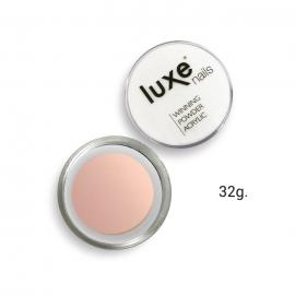 Polvo acrílico de construcción Luxe Nails. Color: rosa cubriente. 32g.