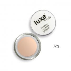 Polvo acrílico de construcción Luxe Nails. Color: rosa cubriente beige. 32g.