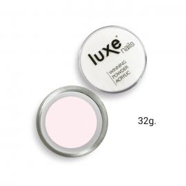 Polvo acrílico de construcción Luxe Nails. Color: rosa semitransparente. 32g.