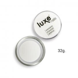 Polvo acrílico de construcción Luxe Nails. Color: transparente. 32g.