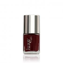 Esmalte tradicional para uñas Luxe Nails. Color: rojo cereza. 9ml