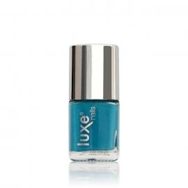 Esmalte tradicional para uñas Luxe Nails. Color: turquesa. Número: NP34. 9ml