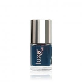 Esmalte tradicional para uñas Luxe Nails. Color: azul baquero. 9ml