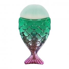 Cepillo-brocha Cola de pez para nail-art. Color: rosa verde