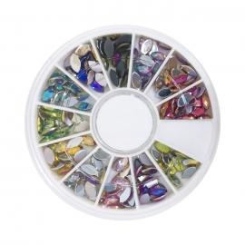 Decoracion Rueda de diamantes-brillantes grandes de colores para nail-art