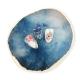Expositor efecto piedra para tips nail-art y paleta para geles esmaltes semipermanentes y pinturas. Color: azul