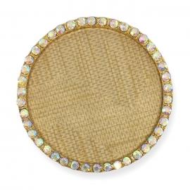 Expositor para tips decorados, con textura y marco con brillantes transparentes