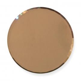 Paleta de cristal para mezclar gel, esmalte semipermanente, gel paint. Color: bronce