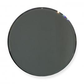 Paleta de cristal para mezclar gel, esmalte semipermanente, gel paint. Color: gris-oscuro