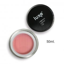 Gel constructor Luxe Nails Rose para esculpido de uñas (UV/LED). Color: rosa lechoso cubriente. 50ml