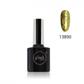 Esmalte semipermanente G. Lack Luxe Nails (número: 13890). Color: dorado metalizado. 8ml.