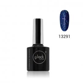 Esmalte semipermanente G. Lack Luxe Nails. Color: azul purpurina. 8ml.