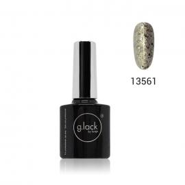 Esmalte semipermanente G. Lack Luxe Nails. Color: purpurina plateada dorada. 8ml.