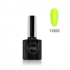 Esmalte semipermanente G. Lack Luxe Nails (número: 13203). Color: amarillo neon. 8ml.
