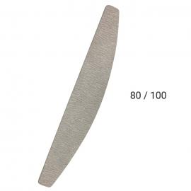 Lima media luna 80/ 100 para limado de uñas de gel, acrílico, acrygel, esmaltado semipermanente