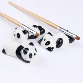 Soporte para pincel para nail-art en forma de oso panda