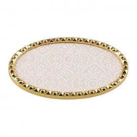 Expositor para tips decorados, con textura y marco dorado