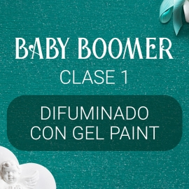Vídeo curso «Baby Boomer» con Yuliya Novikava. Clase 1. Difuminado con Gel Paint