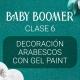 Vídeo curso «Baby Boomer» con Yuliya Novikava. Clase 6. Decoración arabescos con Gel Paint